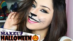 cute halloween cat makeup cat halloween makeup tutorial youtube