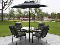 patio table set with umbrella eva furniture