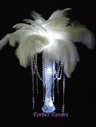 feather centerpieces diy charming ostrich feather centerpiece with garland