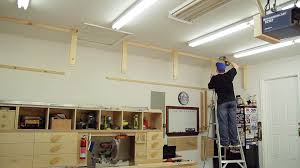 garage diy garage storage closet organizer wooden shelf design
