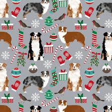 australian shepherd ornament australian shepherd christmas fabric cute aussie dog xmas fabrics