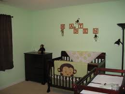 Monkey Decorations For Nursery Baby Nursery Attractive Baby Room Decoration With Brown Crib