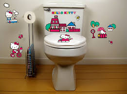 hello kitty bathroom toilet decals potty training concepts hello kitty bathroom toilet decals