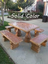 Mexican Patio Furniture Sets Cement Patio Furniture Tables And Benches San Diego Farm