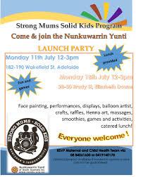 strong mums solid kids program launch nunkuwarrin yunti of