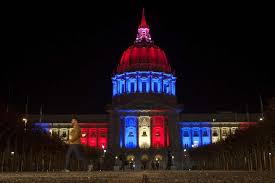 sf city hall lights s f residents grieve after terrorist attacks shake paris sister