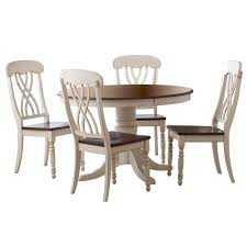 Cherry Dining Room Homesullivan 5 Antique White And Cherry Dining Set 401393w