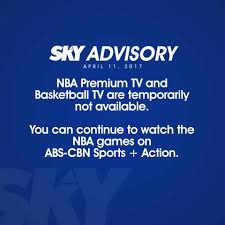 Sky Direct and Sky Cable NBA Premium TV is Temporarily Not