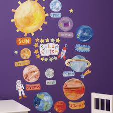 solar system vinyl decals wallies