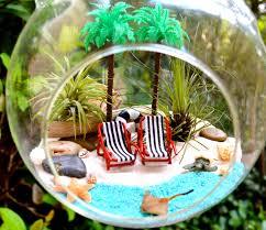 resort beach terrarium kit 2 tall palm trees 2 beach chairs