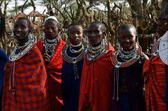 masai with traditional ornaments tanzania editorial photo