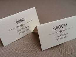 wedding place cards 10 x handmade personalised vintage deco style name place cards