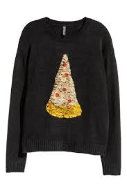 sweater t shirt sweater with sequins black pizza sale h m us