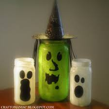Halloween Jars Crafts by Tea Light Jars Witch And Ghosts Boo Craft O Maniac