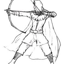 robin hood balancing arrow coloring pages place color