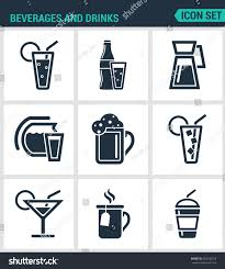 martini bar sign set modern vector icons beverages drinks stock vector 453736318