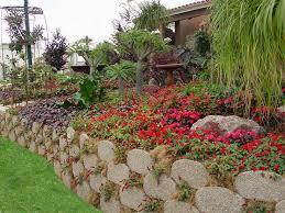 concrete retaining wall planter garden beds soil retention