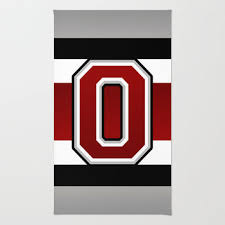 Ohio State Outdoor Rug Ohio State Glove Stripe Area Throw Rug By Timothy Davis With Rugs