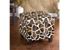 enterprises giraffe faux leather storage ottoman