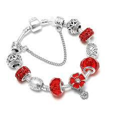 snake chain charm bracelet images Spinner mickey lover heart diy charm bracelet snake chain pandora jpg
