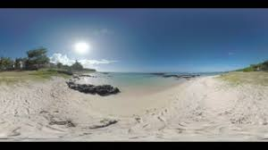 Cottage By The Beach by 360 Vr Video Blue Ocean Skyline And Cottage On The Beach In