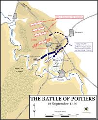 map of poitiers the hundred years war the part of henry vi