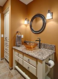 burnt orange paint against the granite this is what i want my