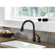 leland kitchen faucet leland single handle pulldown kitchen faucet bronze dst sle