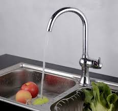 Kitchen Water Faucets Fashion Brass Single Kitchen Faucet Brass Kitchen Water