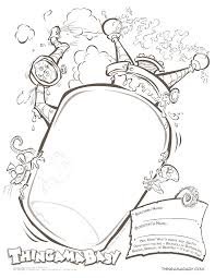 halloween frame coloring page dresslikeaboss co