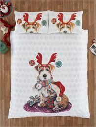 Dog Duvet Covers Christmas Kids Quilt Duvet Cover Bedding Bed Sets 5 Sizes Festive