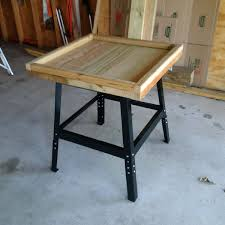 table top electric smoker smokintex model 1500 fits nicely in this diy stand finished the