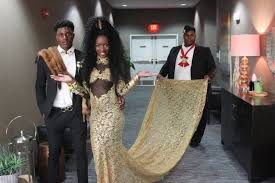coming to america wedding dress high school senior recreates coming to america for prom and kills it