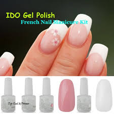 buy ido gelish french manicure white pink color soak off gel nail
