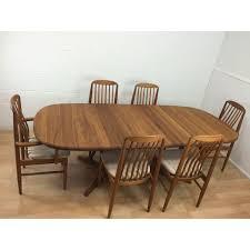 Teak Dining Room Furniture by Benny Linden Mid Century Modern Teak Dining Set Chairish