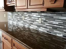 White Mosaic Tile Kitchen Backsplash Hood With Curved Gray Mosaic - Mosaic backsplash tile