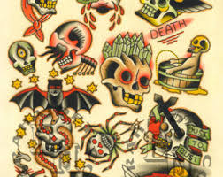 collection of 25 traditional nautical tattoos flash