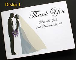 pack of handmade personalised wedding thank you cards 3 designs