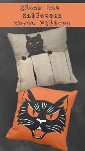 cat halloween throw pillows