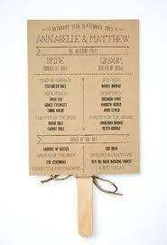 Kraft Paper Wedding Programs Wedding Ceremony Program Paddle Fan Timeline Illustration Garden