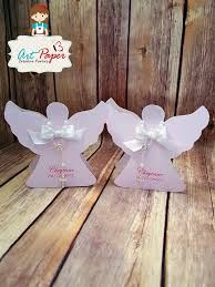 baptism ornament favors colored candy cup paper angel for baptism favor or communion