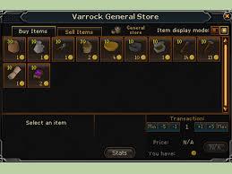 fare soldi vendendo a general store runescape
