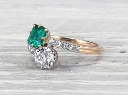 vintage engagement rings nyc vintage emerald engagement rings 2017 wedding ideas magazine