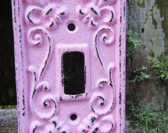 Shabby Chic Light Switch Covers by Outlet Cover Crinkle Pattern Decorative Outlet Cover Metal