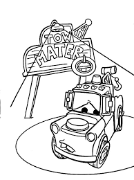 tow mater loved friends coloring pages color luna