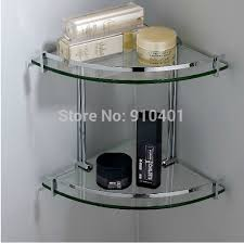 wholesale and retail promotion chrome brass bathroom corner shelf