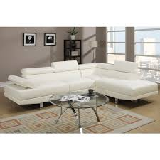 Overstock Sectional Sofas Pomorie White Faux Leather Sectional Sofa Set Free Shipping