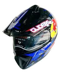motocross helmet with shield gliders mc 2 full face motocross bull glossy blue with