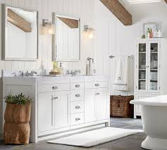 davis double sink console with drawers pottery barn home reno