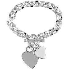 double heart charm bracelet images Cheap double charm bracelet find double charm bracelet deals on jpg